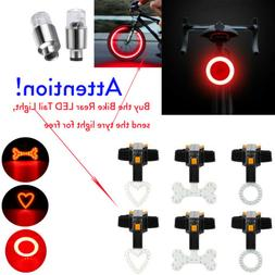 4X USB Rechargeable Bike Rear LED Tail Light Safety Warning