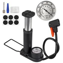 Bicycle Pump Pressure Gauge Air Inflator Floor/Track Tire Bi