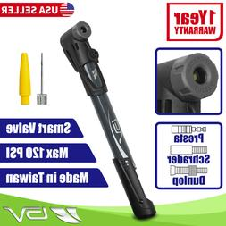 BV Mini Bicycle Pump Portable Tire Air Inflator Compact Desi