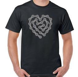 Cycling T-Shirt Biker Motorbike Motorcycle Heart Bike Chain