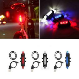 5 LED USB Rechargeable Bike Tail Light Bicycle Safety Cyclin