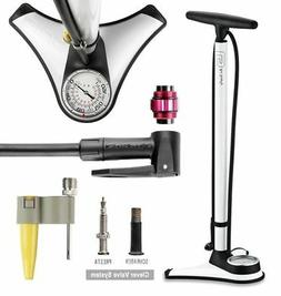 CyclingDeal High Pressure Bicycle Bike Floor Pump W/TOP-Moun