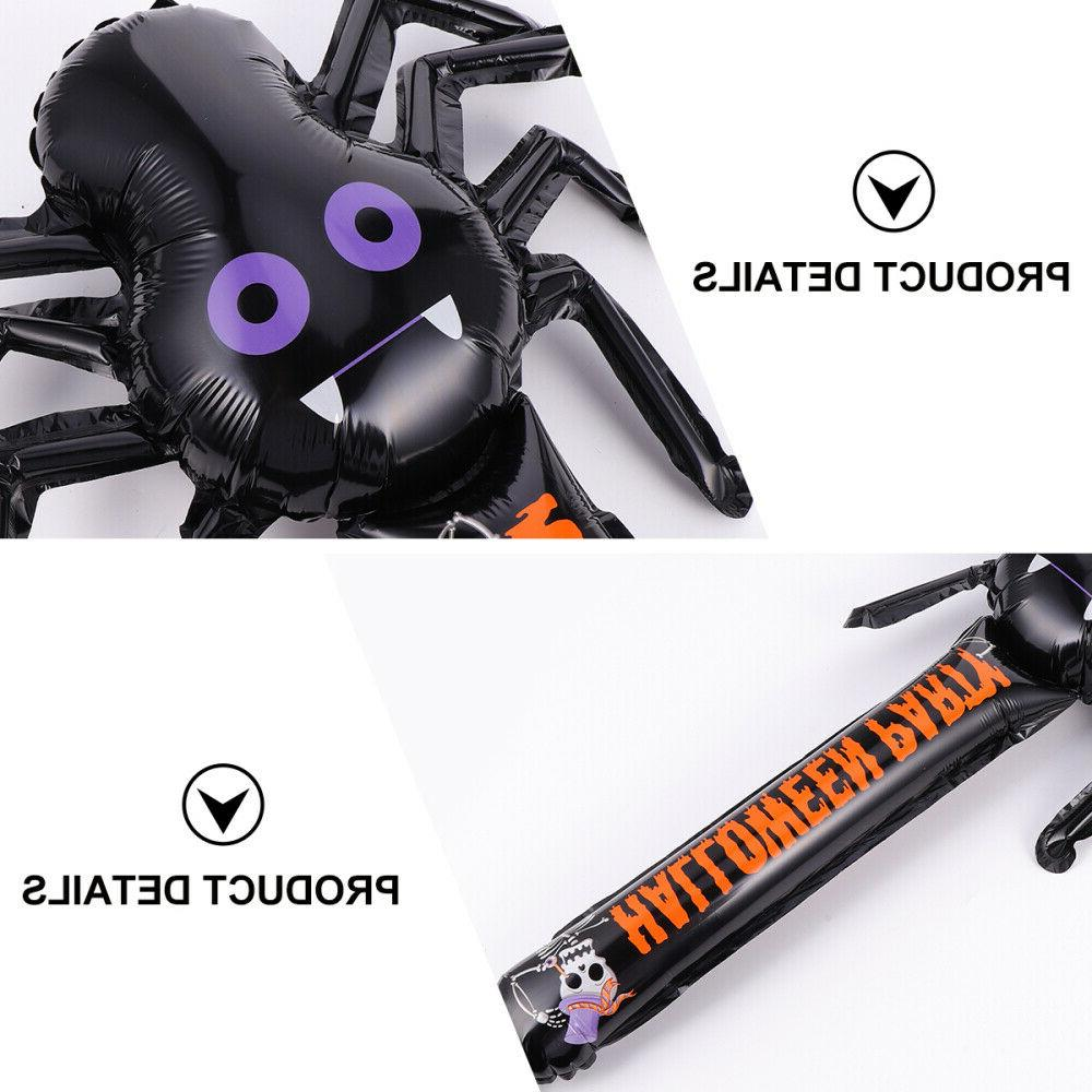 12 pcs kids halloween inflatable spider toy