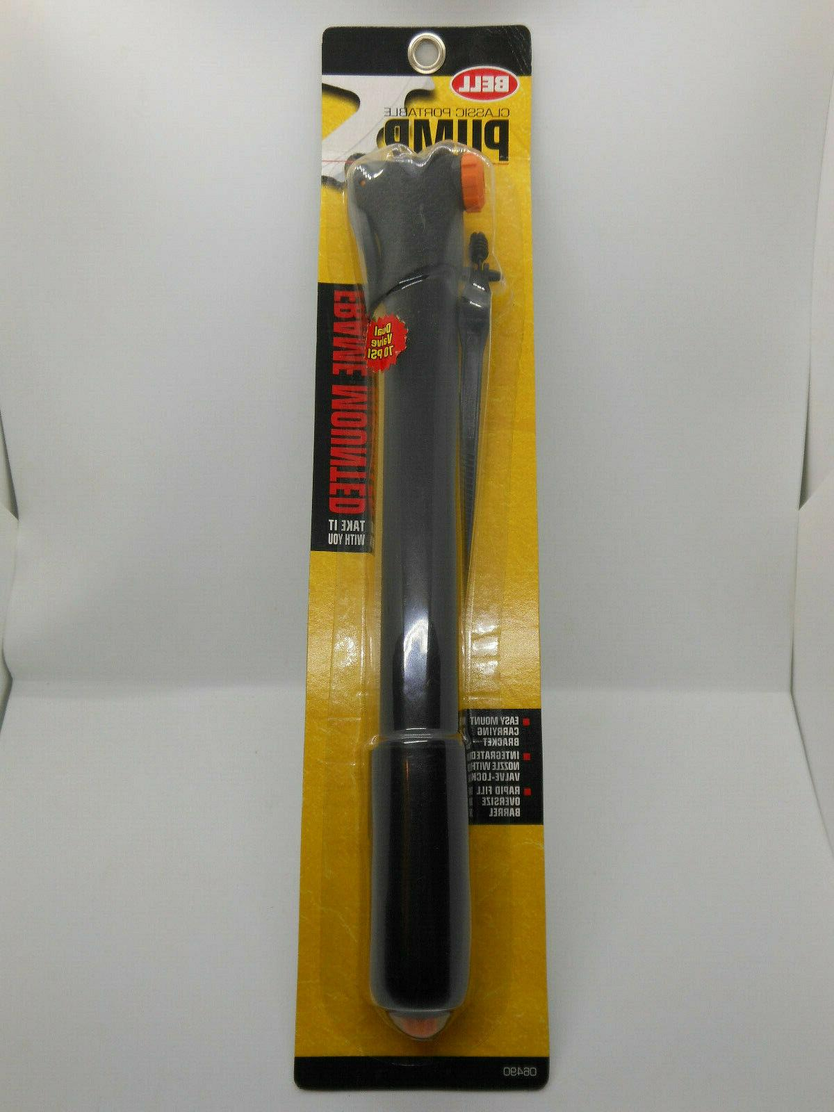 classic portable bicycle pump frame mounted new