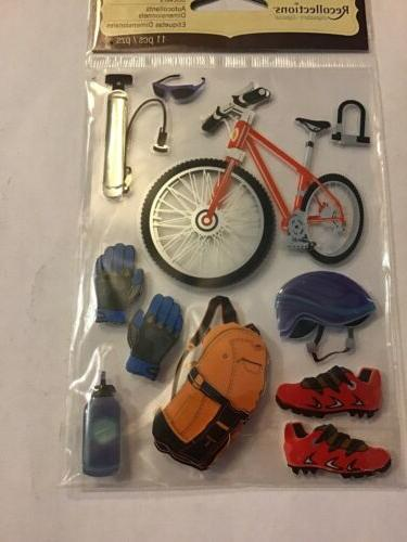 dimensional stickers bicycle and equipment helmet shoes