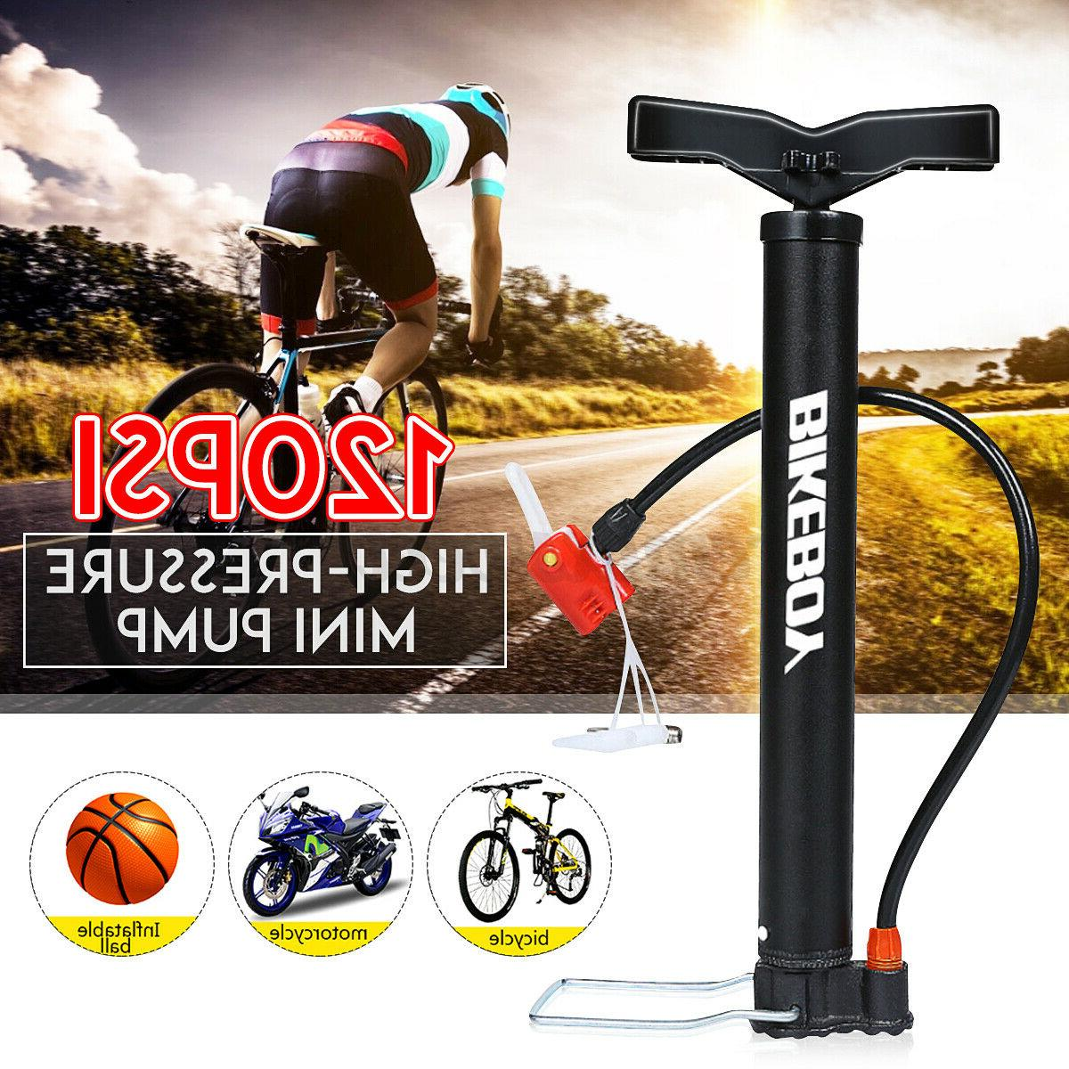 Portable High Pressure Floor Standing Bike Pump Cycle Bicycl