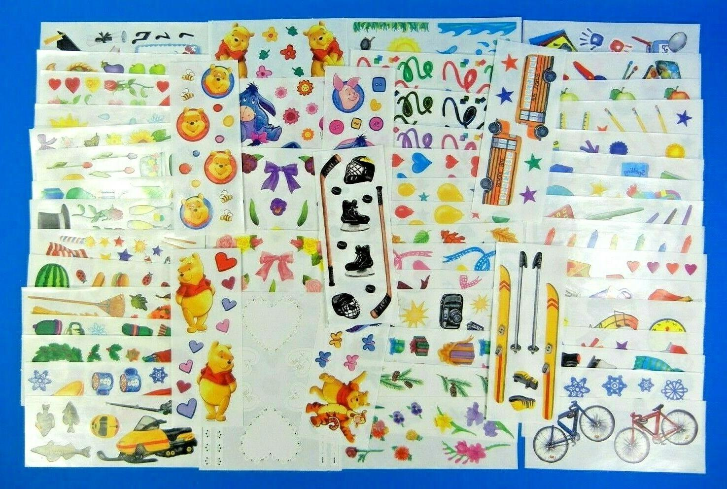 vintage sticker sheet school pooh bear fall