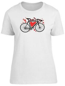Love Heart Bicycle Tee Women's -Image by Shutterstock