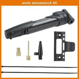 Portable Bicycle Bike Hand Air Pump Tire Inflator Compact At